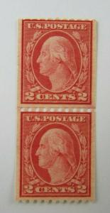 1919 United States SC #488 Coil Pair GEORGE WASHINGTON    MNH 10 cent stamp