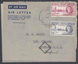 GOLD COAST 1946 Victory set on formular aerogramme First day cancel.........J996