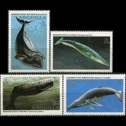 ANGUILLA 1995 - Scott# 933-6 Whales Set of 4 NH