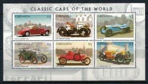Grenada #2555* NH  CV $5.00 Classic Cars Souvenir Sheet