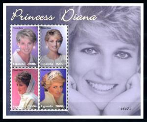[91857] Uganda 2002 Royalty Princess Diana Sheet MNH