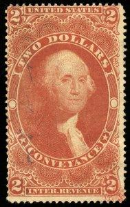 B630 U.S. Revenue Scott #R81c $2 Conveyance, inking anomaly