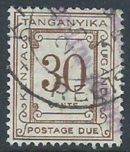 Kenya, Uganda & Tanganyika, Sc #J10, 30c Used