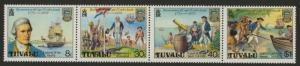 Tuvalu 117a MNH Captain James Cook, Ship, Flag