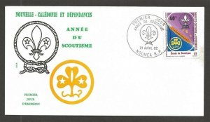 1982 New Caledonia Boy Scouts 75th anniversary FDC