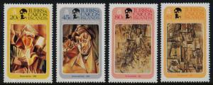 Turks & Caicos 481-5 MNH Art, Paintings, Picasso, Music