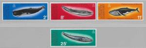 British Antarctic Territory 64-67 Conservation of Whales set MNH
