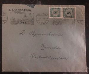 1924 Stuttgart Germany Printed Matter Cover to Munich Commemorative Cancel