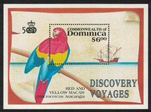 Dominica Red and Yellow Macaw Bird MS SG#MS1414