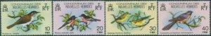 New Hebrides French 1980 SGF296-F299 Birds set MNH