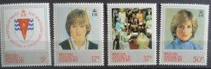 British Antarctic Territory 1982 Princess Diana 21st Birthday MNH Stamp Set