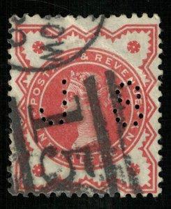 Queen Victoria, 1887-1892, 1/2 Penny, Great Britain, JS, SC #111 (T-7240)