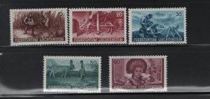 LIECHTENSTEIN 166-170 (5) Set, MNH, 1941 People at Work