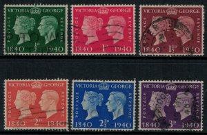 Great Britain #252-7  CV $6.20