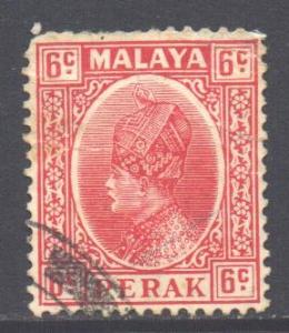 Malaya Perak Scott 73 - SG92, 1935 Sultan 6c used