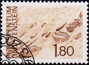 Liechtenstein. 1972 1f80 S.G.574 Fine Used