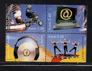 Aland Sc  140-3 1998 Youth Activities stamp set mint NH