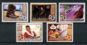 Norfolk Island 2013 MNH Country Music Festival 20th Anniv 5v Set Guitars Stamps