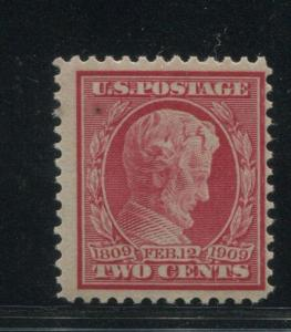 1909 US Stamp #369 2c Mint Never Hinged Fine Bottom Reperf