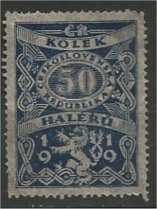 CZECHOSLOVAKIA, 1919, used 50h, Revenue, Scott