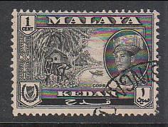 Malaya Kedah 1959 Sc 95 1c Used