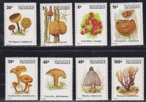 Zaire # 910-917, Mushrooms, NH, 1/2 Cat