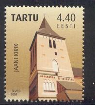 Estonia Sc 517 2005 St John's Cathedral Tartu stamp mint NH