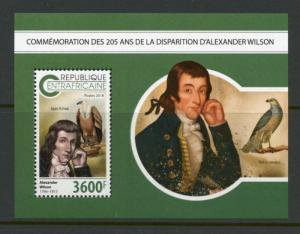 CENTRAL AFRICA 2018 205th MEMORIAL OF  ALEXANDER WILSON  SOUVENIR SHEET MINT NH
