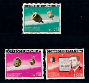 [72405] Paraguay 1966 Space Travel Weltraum John F. Kennedy Airmail Stamps MNH