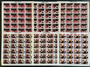 Stamps Full Set in Sheets Olympic Games Montreal 76 Senegal 1976 Imperf.