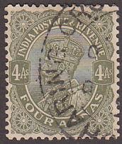 India 128 Used 1926 King George V 'Postage & Revenue'