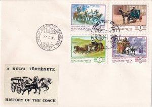 1977, Hungary: History of the Coach, FDC (E11392)