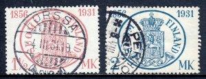 Finland - Scott #182-183 - Used - Creasing #183, pencil/rev. #182 - SCV $23