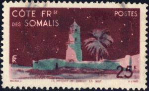 CÔTE FRANÇAISE DES SOMALIS - 1947 - Yv.282 / Mi.303 25fr Oblitéré TB