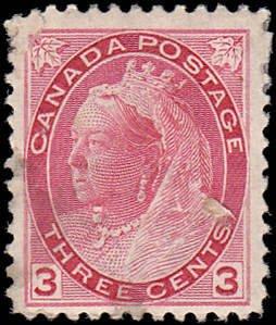 Canada Scott 78 Queen Victoria Used