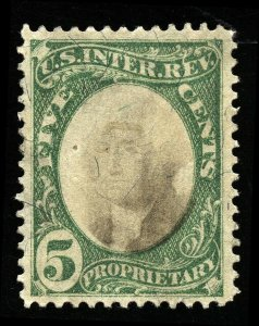 B236 U.S. Revenue Scott RB5a 5-cent proprietary, uncancelled, SCV = $175