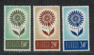 Cypress Sc#244-246 M/NH/VF, Complete Set, Cv. $32.25