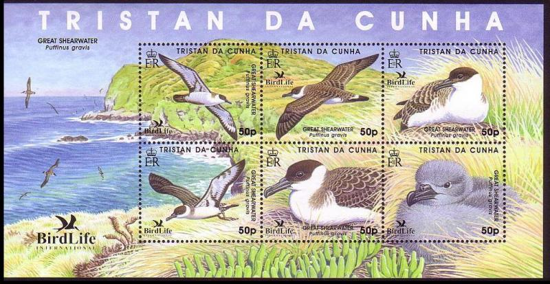 Tristan da Cunha Great Shearwater BirdLife II MS SG#MS883