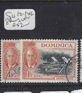 DOMINICA (PP1903B)  KGVI  1C    SG 121  X 2 SHADES   VFU