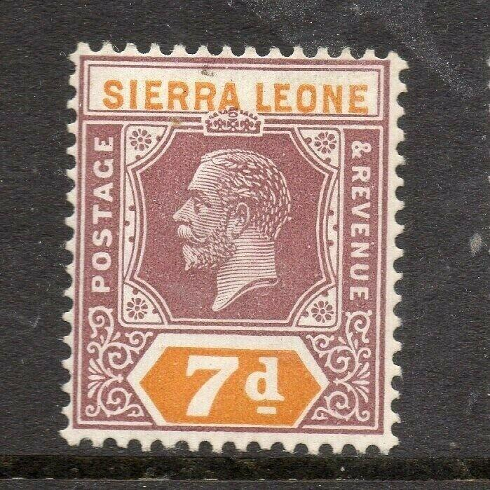 Sierra Leone 1921-28 Early Issue Fine Mint Hinged 7d. 303570