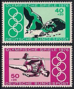 Germany B530-B532 MNH - 1976 Olympics Montreal
