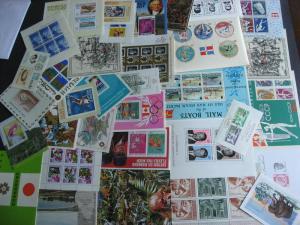 SOUVENIR SHEETS wee hoard 34 better all different worldwide