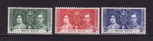 Hong Kong 151-153 Set MH King George VI Coronation (A)