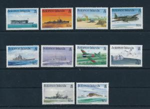 [81161] Solomon Islands 1992 WWII Military Aircrafts Ship from sheet MNH