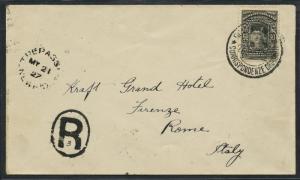 DE PINEDO FLT TREPASSEY, NFLD TO ROME, ITALY COVER 5/23/1927 VERY RARE WLM5027