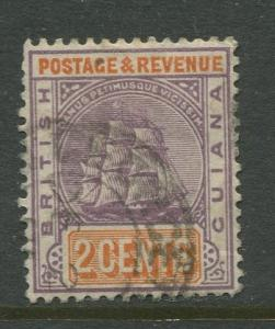 STAMP STATION PERTH British Guiana #132 - Seal Definitive Used Wmk 2 CV$0.25