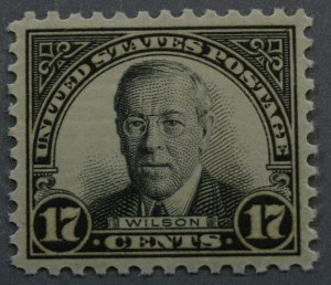 United States #697 17 Cent Wilson MNH