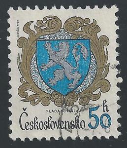 Czechoslovakia #2400 50h Arms of Mlada Boleslav