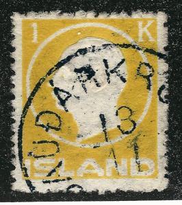 Used Iceland 1912 #96 F-VF SCV$85...fill a high value spot!!