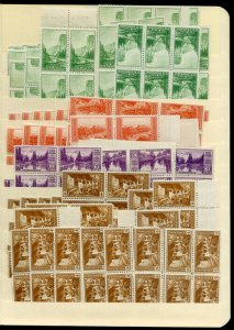 US Stamps Mint Farley Stock on stock pages